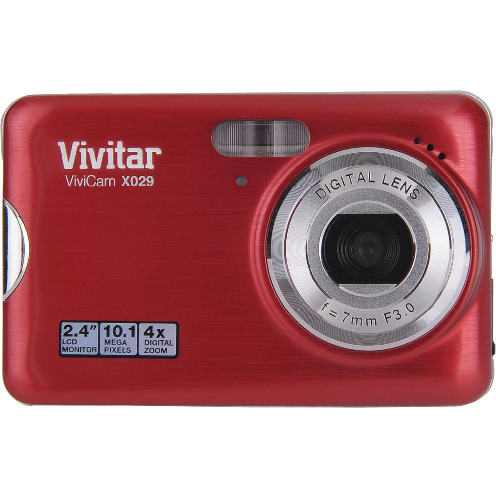 Vivitar ViviCam X029 Digital Camera (Strawberry) X029 B&H Photo