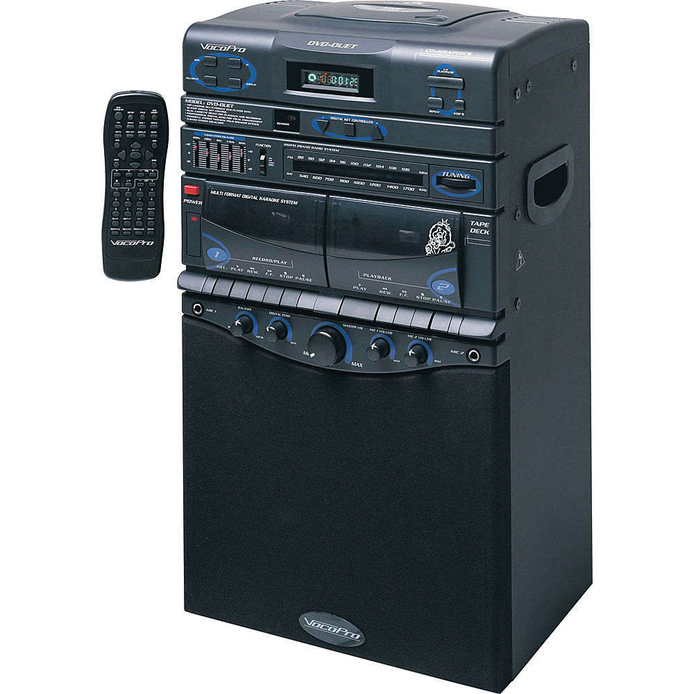 vocopro dvd duet 80w multi format music vocal system dvd duet. Black Bedroom Furniture Sets. Home Design Ideas