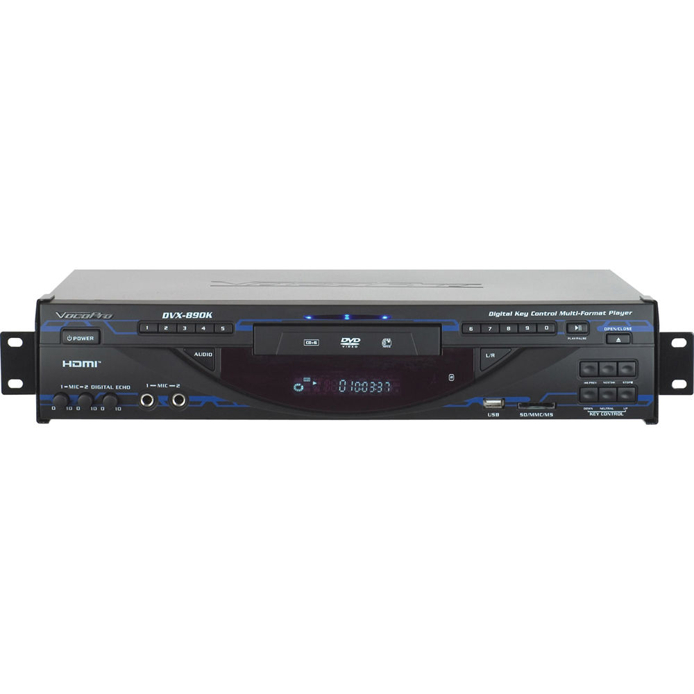Vocopro dvx 890k multi format digital key control dvd for Div player