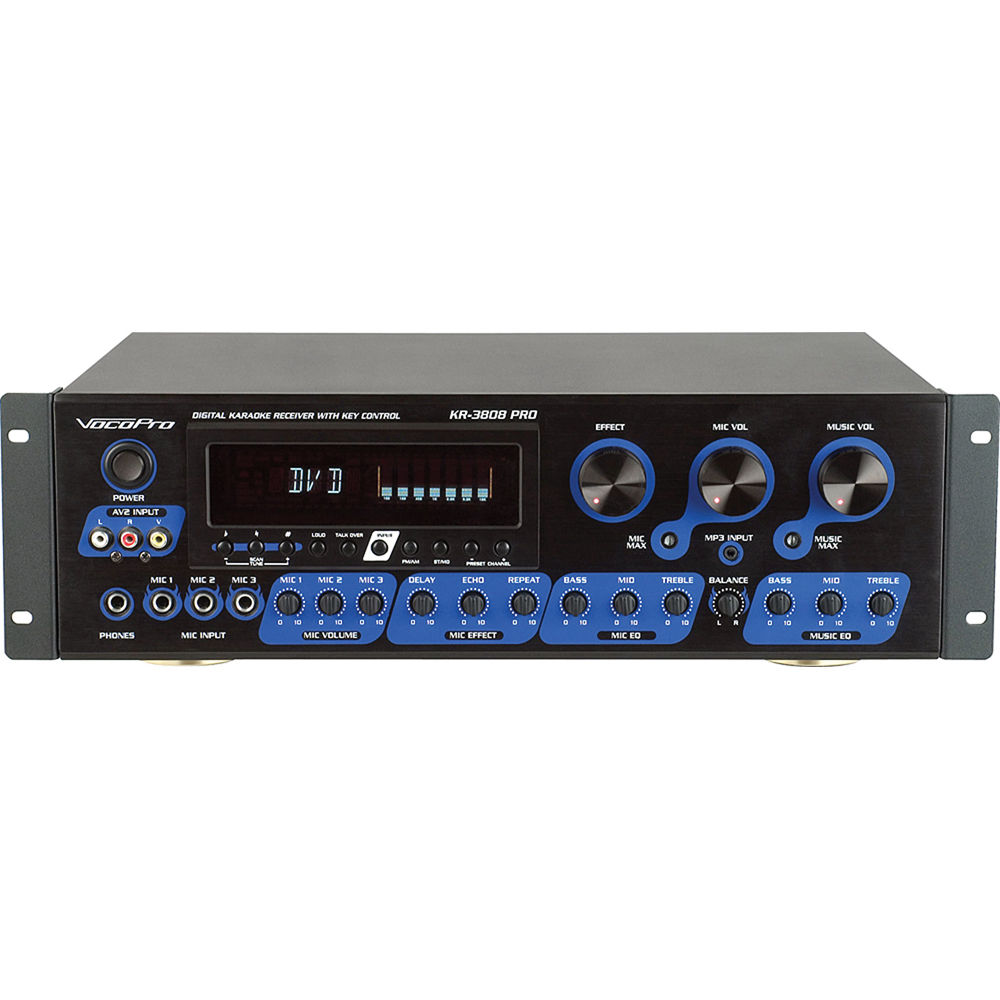 vocopro kr 3808 pro digital karaoke receiver kr 3808 pro b h. Black Bedroom Furniture Sets. Home Design Ideas