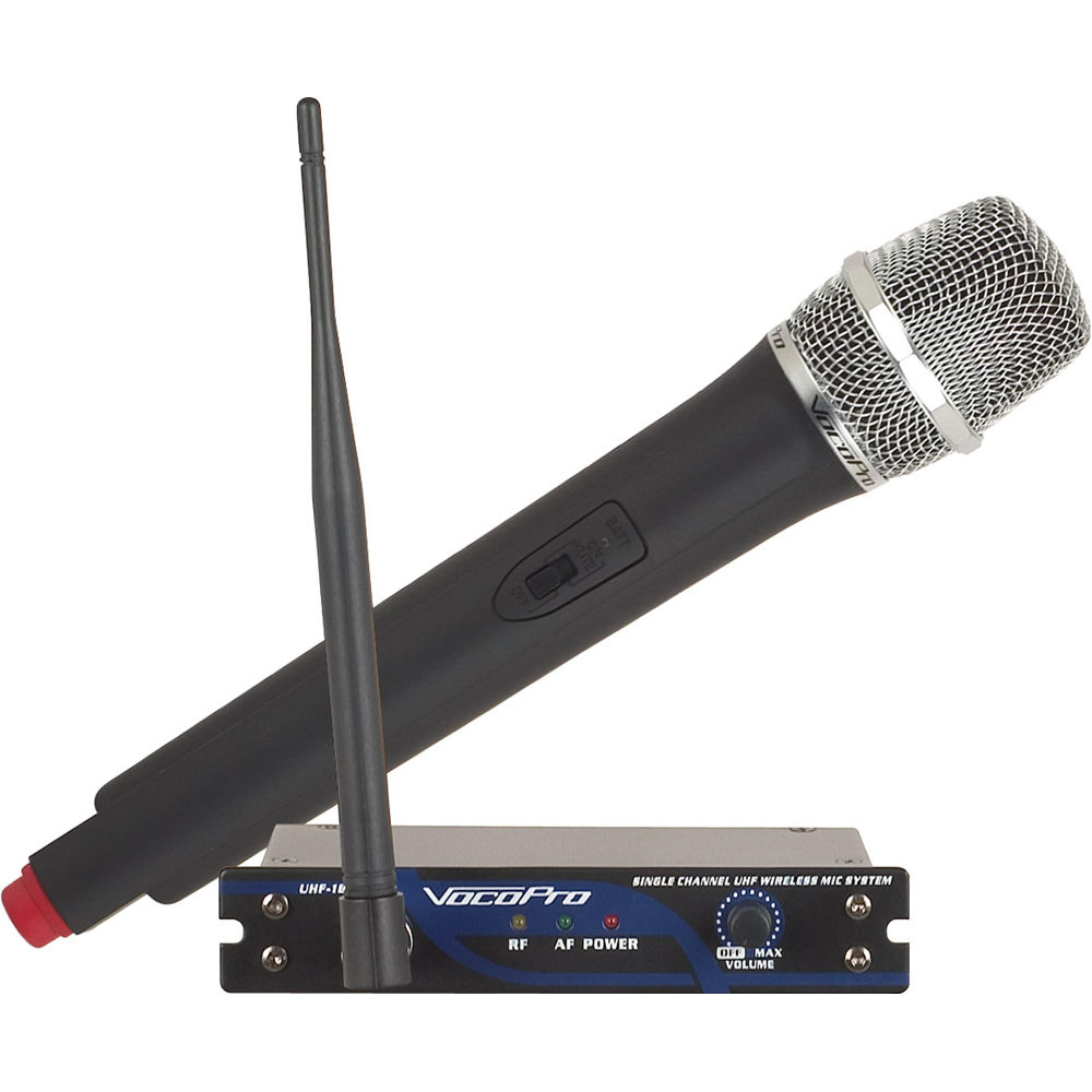 vocopro uhf 18 single channel wireless microphone system. Black Bedroom Furniture Sets. Home Design Ideas