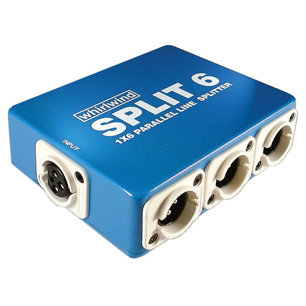 Splitters Combiners Bh Photo Video Twoway Multiswitch Splitter Whirlwind Split6 1x6 Line