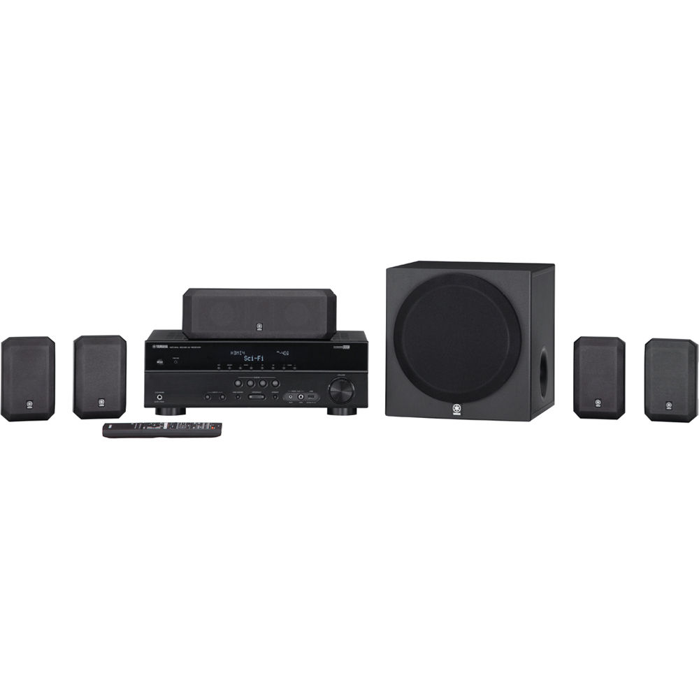 Yamaha yht 397bl home theater system yht 397bl b h photo video for Yamaha home stereo systems