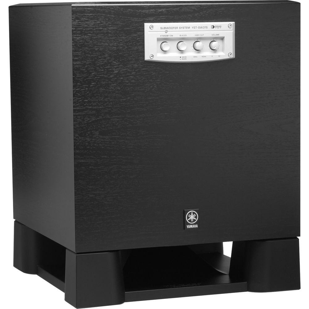 Yamaha yst sw315 10 250 watts powered subwoofer yst sw315 for Yamaha powered speakers review