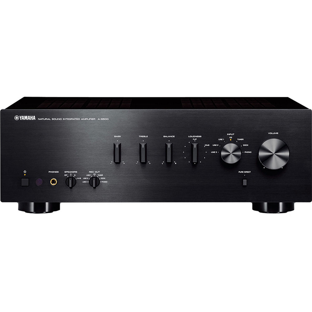 yamaha a s500 integrated amplifier receiver black a s500bl b h. Black Bedroom Furniture Sets. Home Design Ideas