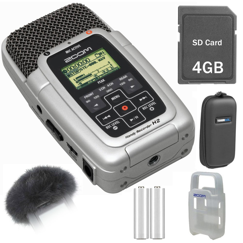 zoom h2 ultra portable digital audio recorder value pack kit. Black Bedroom Furniture Sets. Home Design Ideas