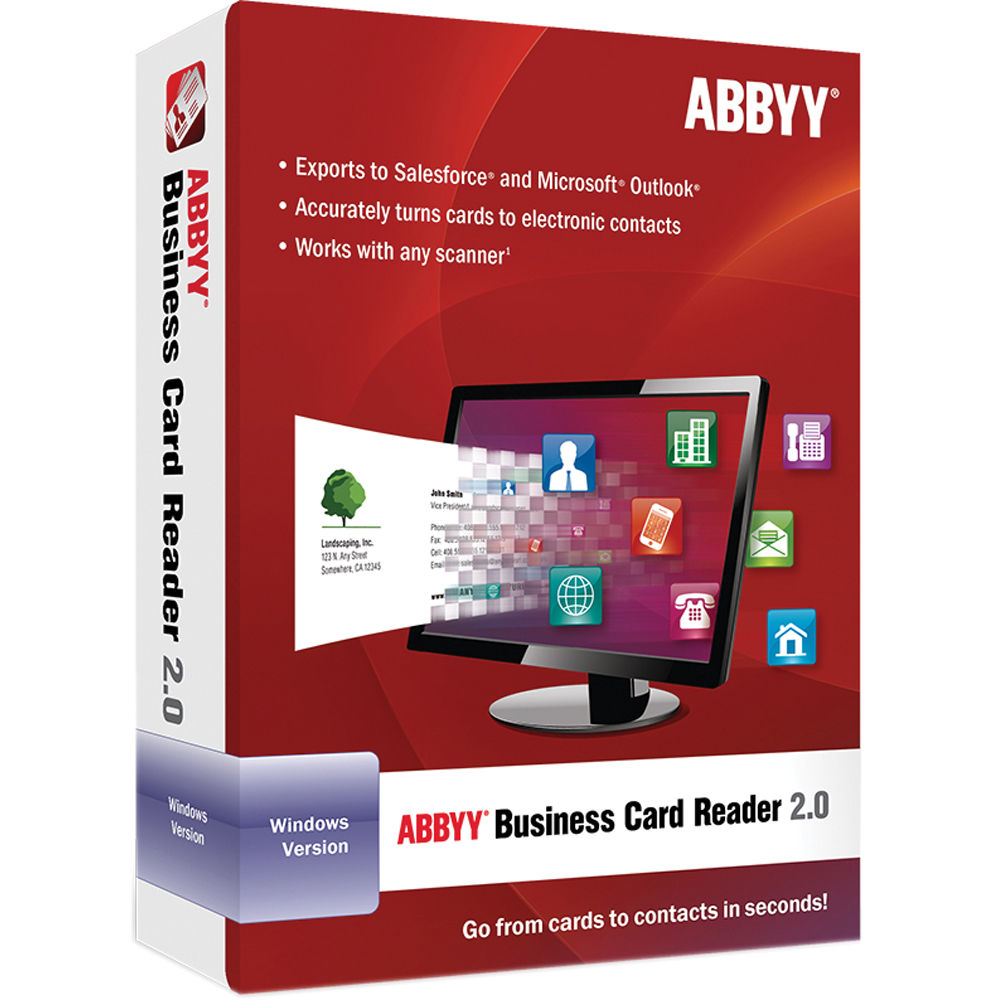 Abbyy business card reader 20 for windows frlbcrdfw2xe bh abbyy business card reader 20 for windows software download reheart Images