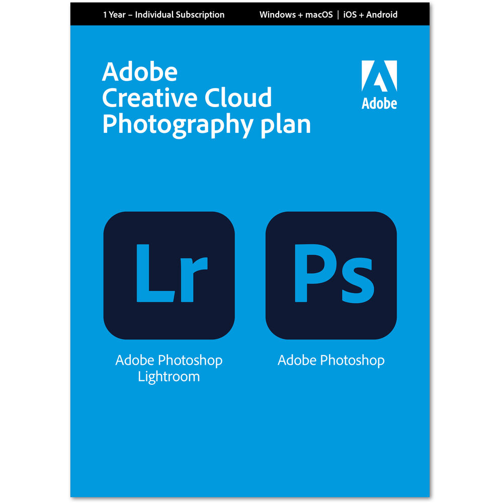 Adobe Creative Cloud Photography Plan 65259143 B&H Photo Video