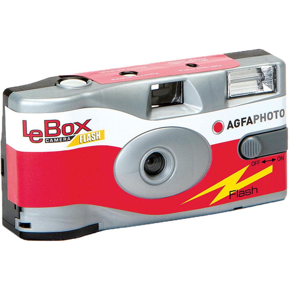 AgfaPhoto LeBox Flash 35mm Disposable Camera 1175286 B&H Photo