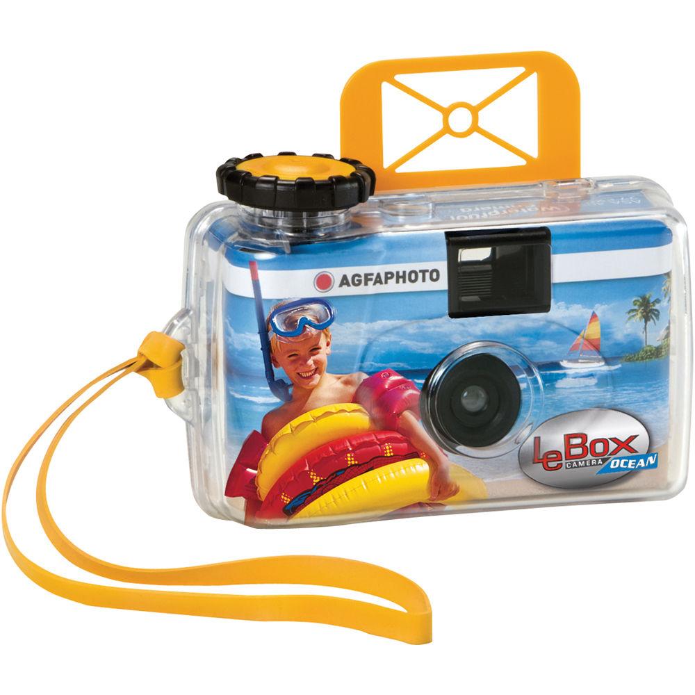 AgfaPhoto LeBox Ocean 35mm Disposable Camera 1175295 B&H Photo