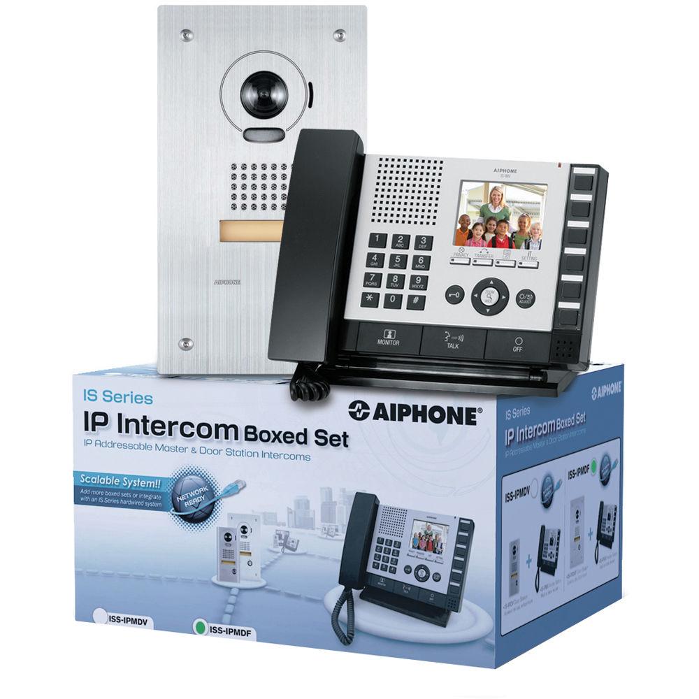 aiphone is series iss ipmdv ip direct intercom set iss ipmdv b h. Black Bedroom Furniture Sets. Home Design Ideas