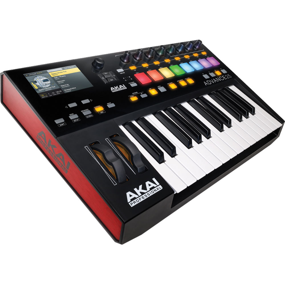 akai professional advance 25 25 key midi keyboard advance 25. Black Bedroom Furniture Sets. Home Design Ideas