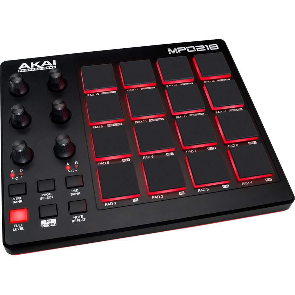 akai professional mpd218 usb pad controller mpd218 b h photo. Black Bedroom Furniture Sets. Home Design Ideas
