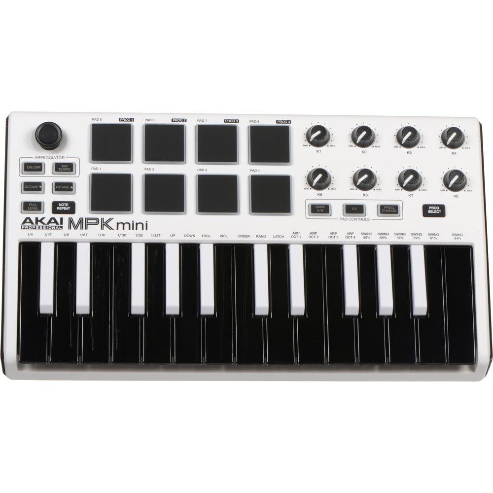 akai professional mpk mini mkii compact keyboard mpkminiwhite. Black Bedroom Furniture Sets. Home Design Ideas