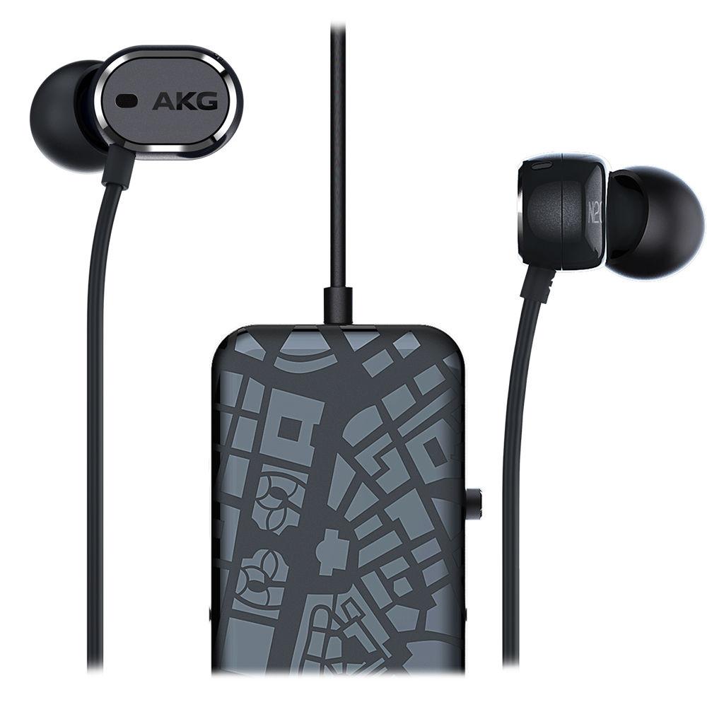 akg n20 nc in ear noise canceling headphones akgn20ncblk b h. Black Bedroom Furniture Sets. Home Design Ideas