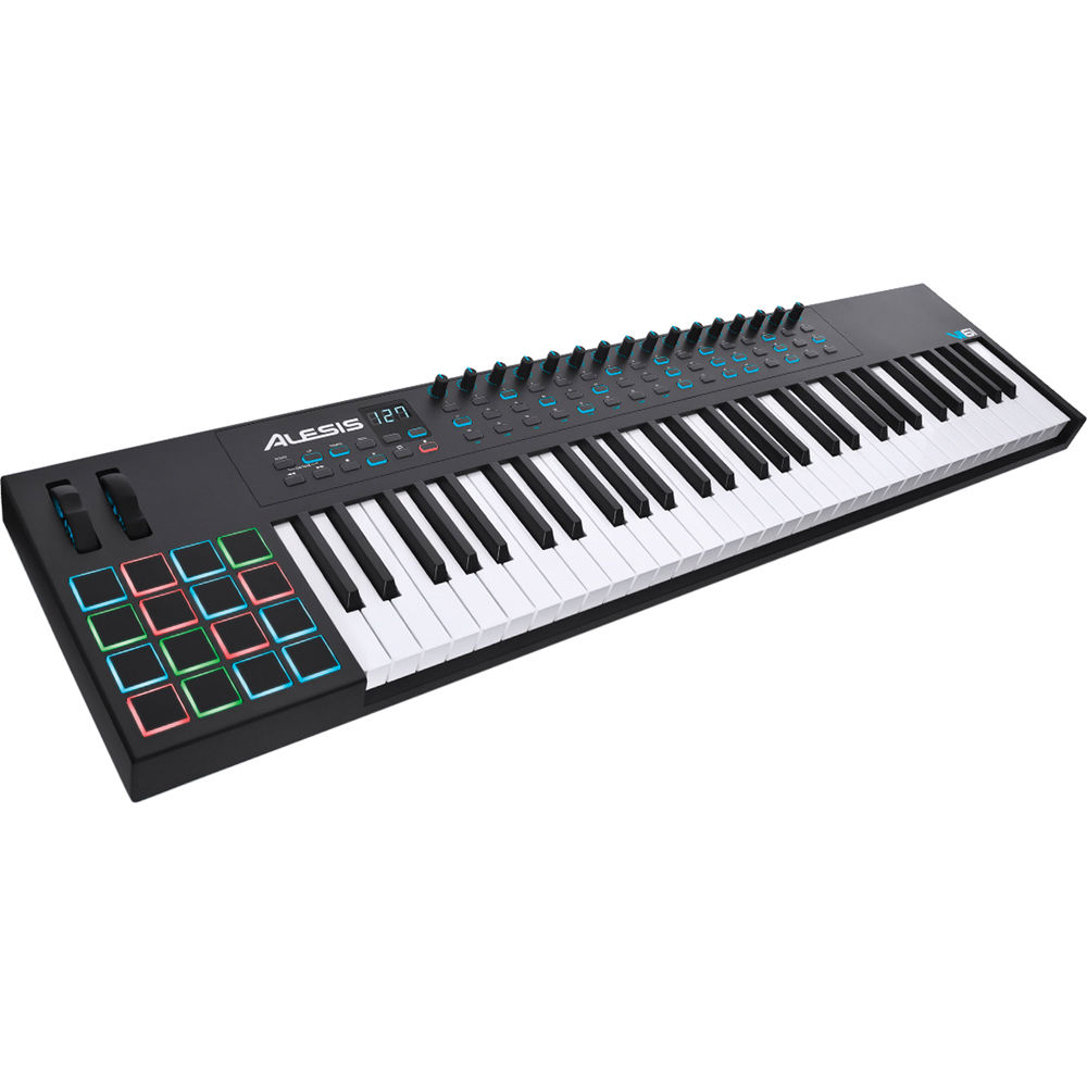 alesis vi61 61 key usb midi keyboard controller vi61 b h photo. Black Bedroom Furniture Sets. Home Design Ideas