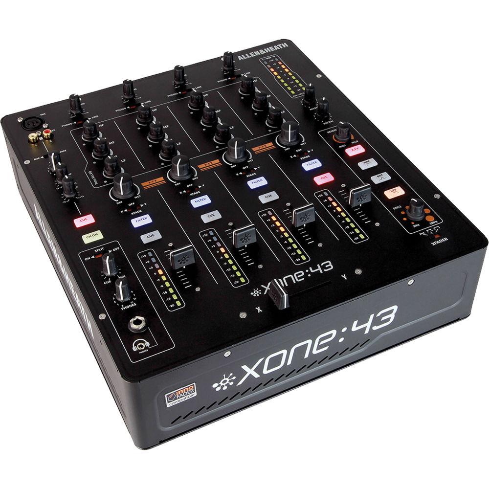 allen heath xone 43 4 1 channel analog dj mixer xone 43 b h. Black Bedroom Furniture Sets. Home Design Ideas