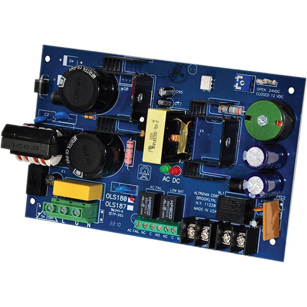 Altronix Offline Switching Power Supply Board Ols180 Bh Photo Download Image Ac Dc Converter 12v To 110v Circuit Pc Android Iphone 12 24vdc 6a
