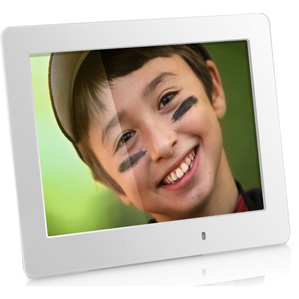 Aluratek 80 Led Digital Photo Frame White Asdpf08led