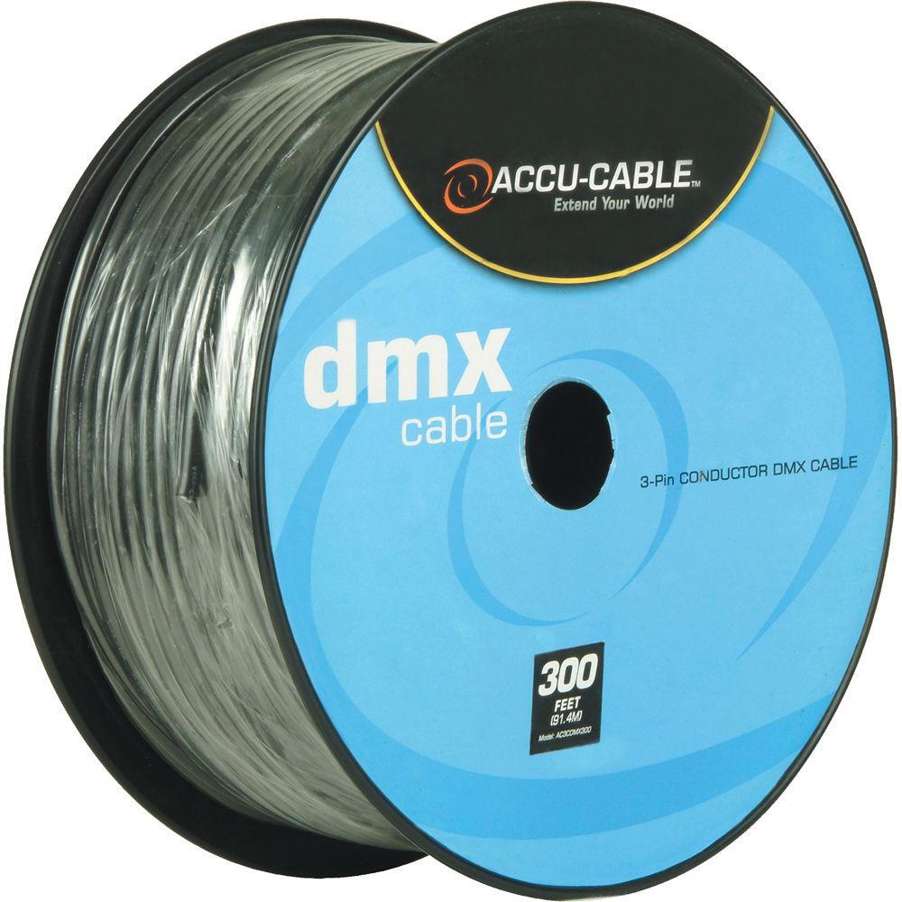 American DJ Accu-Cable 3-Pin DMX Cable Spool (300\') AC3CDMX300