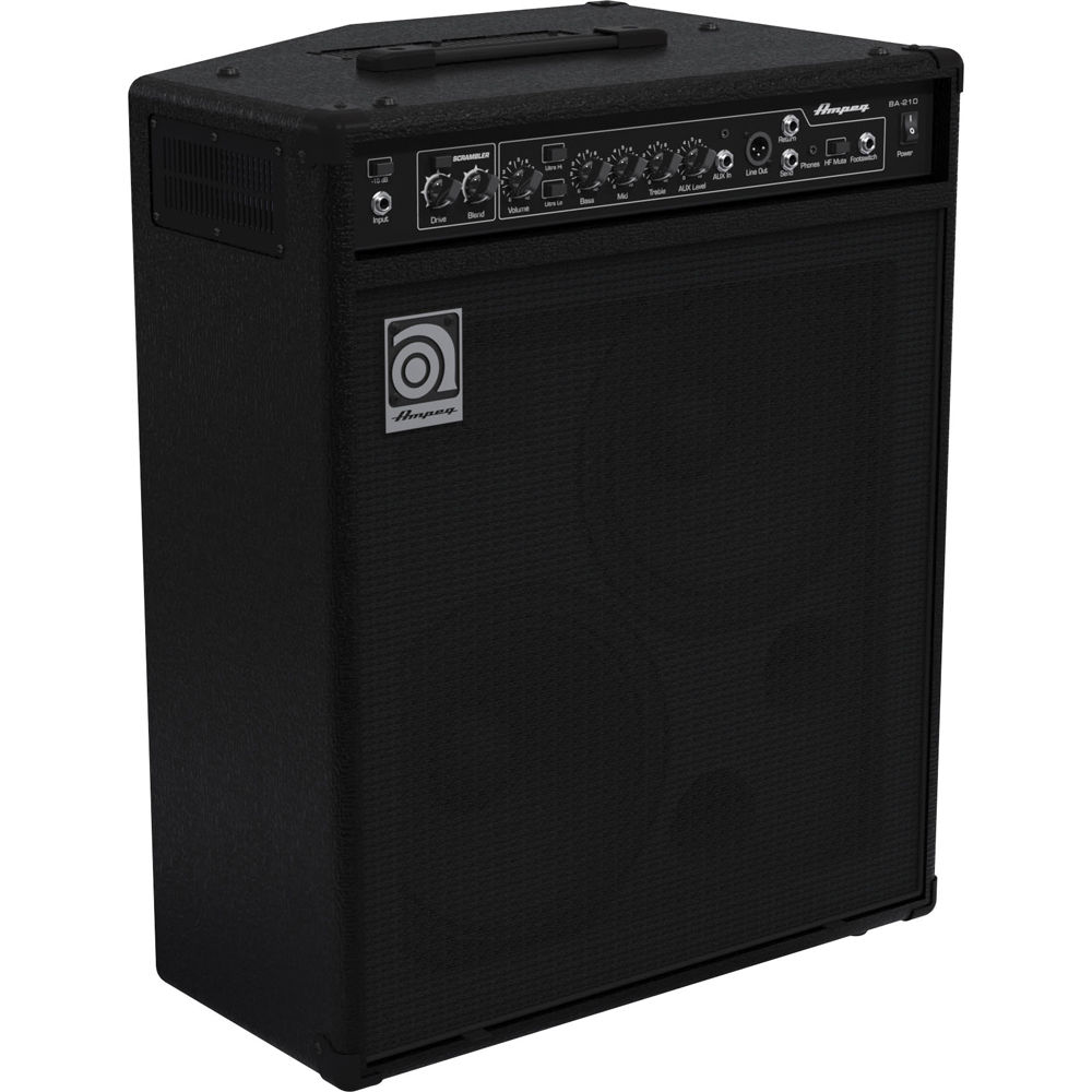ampeg ba 210v2 450w 2x10 combo bass amplifier ba 210v2 b h photo. Black Bedroom Furniture Sets. Home Design Ideas