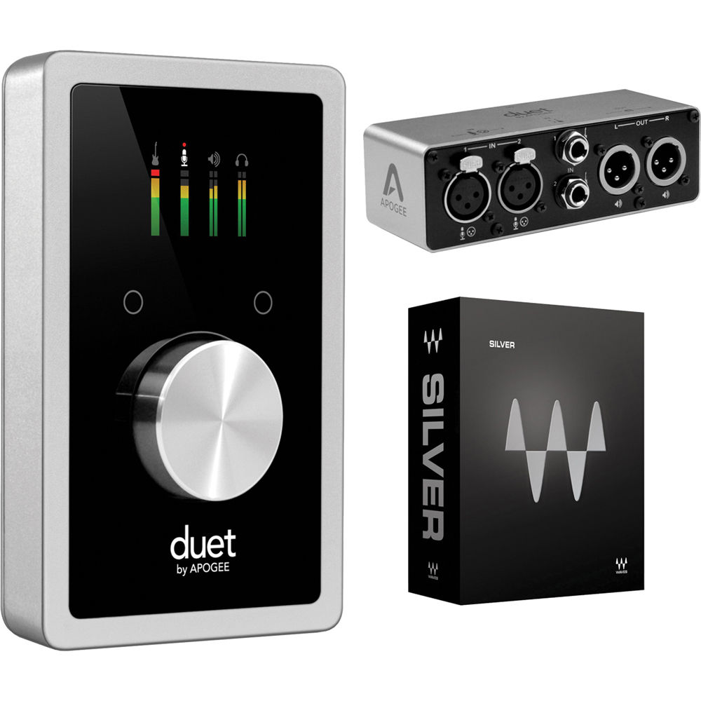 Apogee Electronics Duet Audio Interface For iOS and Mac With Duet Breakout  Box Kit + Waves Silver Plug-in Bundle