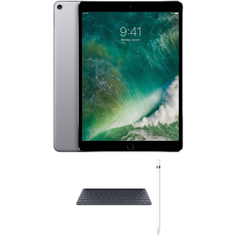 apple 10 5 ipad pro with apple smart keyboard and apple. Black Bedroom Furniture Sets. Home Design Ideas