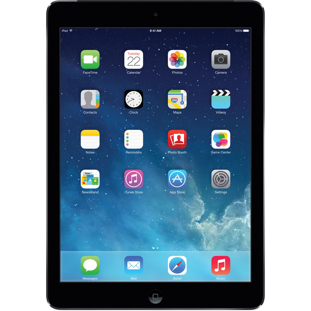 apple 16gb ipad air wi fi only space gray md785ll b b h. Black Bedroom Furniture Sets. Home Design Ideas