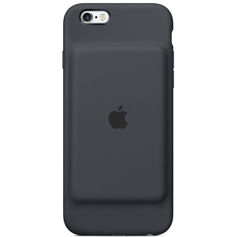 apple iphone 6 6s smart battery case charcoal gray mgql2ll a. Black Bedroom Furniture Sets. Home Design Ideas