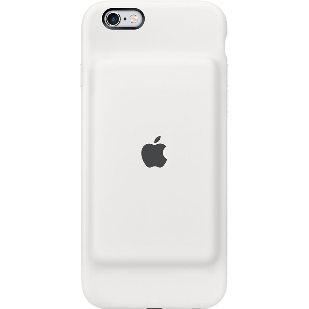 apple iphone 6 6s smart battery case white mgqm2ll a b h photo. Black Bedroom Furniture Sets. Home Design Ideas