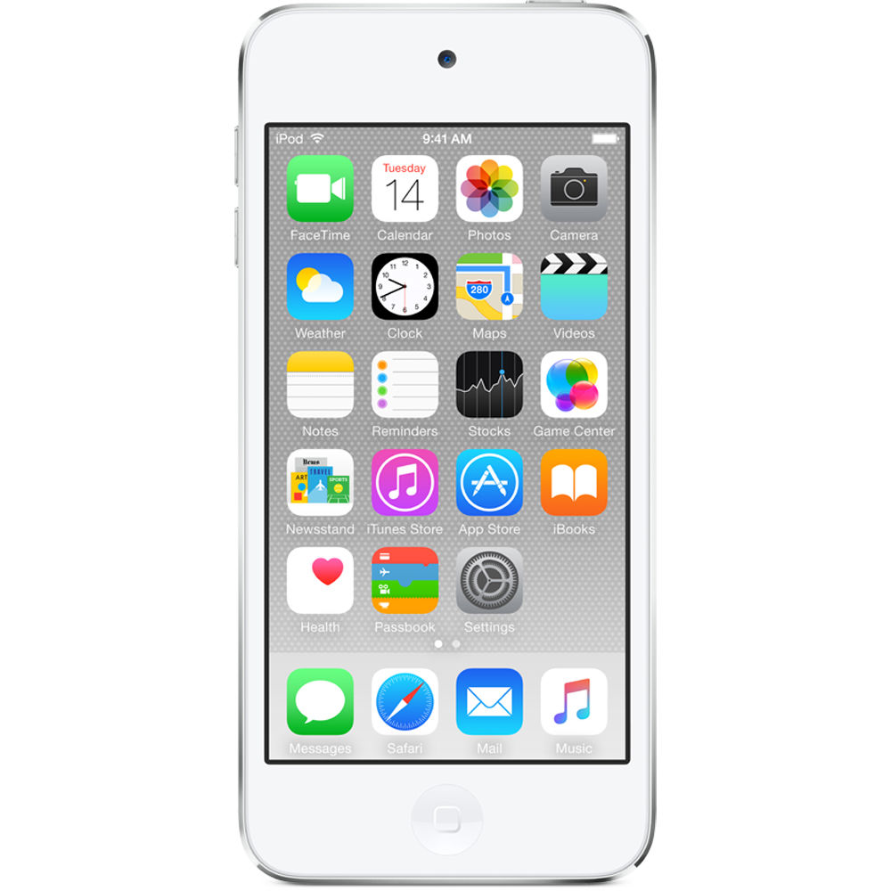 apple 64gb ipod touch silver 6th generation mkhj2ll a b h. Black Bedroom Furniture Sets. Home Design Ideas