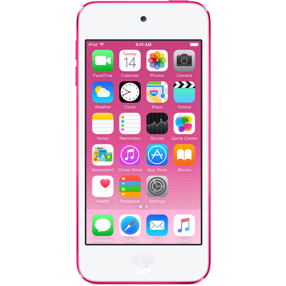 Apple 32GB iPod touch (6th Generation, Pink) MKHQ2LL/A B&H ...