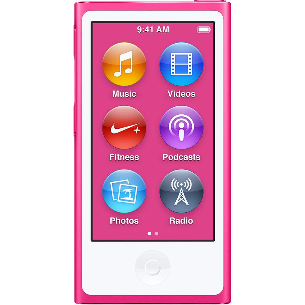 apple 16gb ipod nano pink 7th generation 2015 model. Black Bedroom Furniture Sets. Home Design Ideas