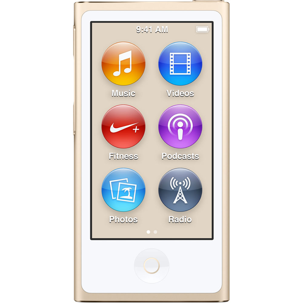 16gb ipod nano gold 7th generation 2015 model