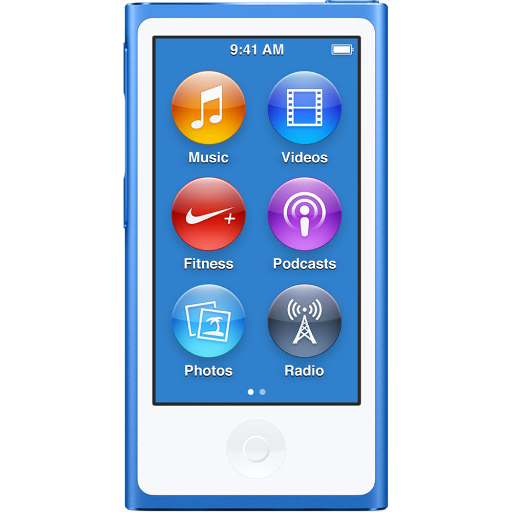apple 16gb ipod nano blue 7th generation 2015 model rh bhphotovideo com ipod nano instructions 7th generation ipod nano user manual 7th generation