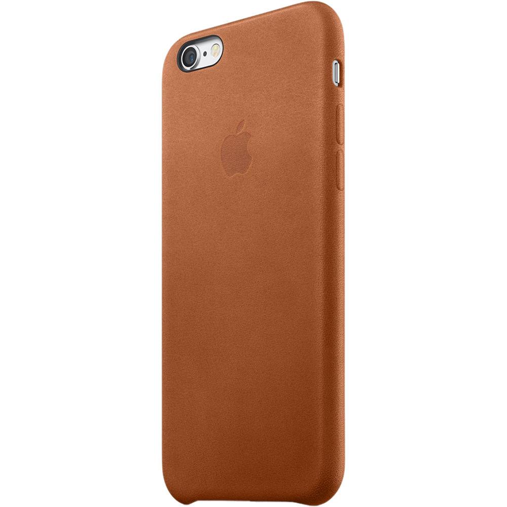 apple iphone 6 6s leather case saddle brown mkxt2zm a b h. Black Bedroom Furniture Sets. Home Design Ideas