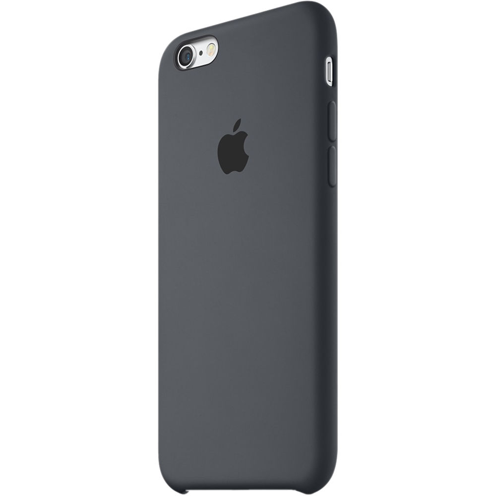 apple iphone 6 cases apple iphone 6 6s silicone charcoal gray mky02zm a b amp h 3199