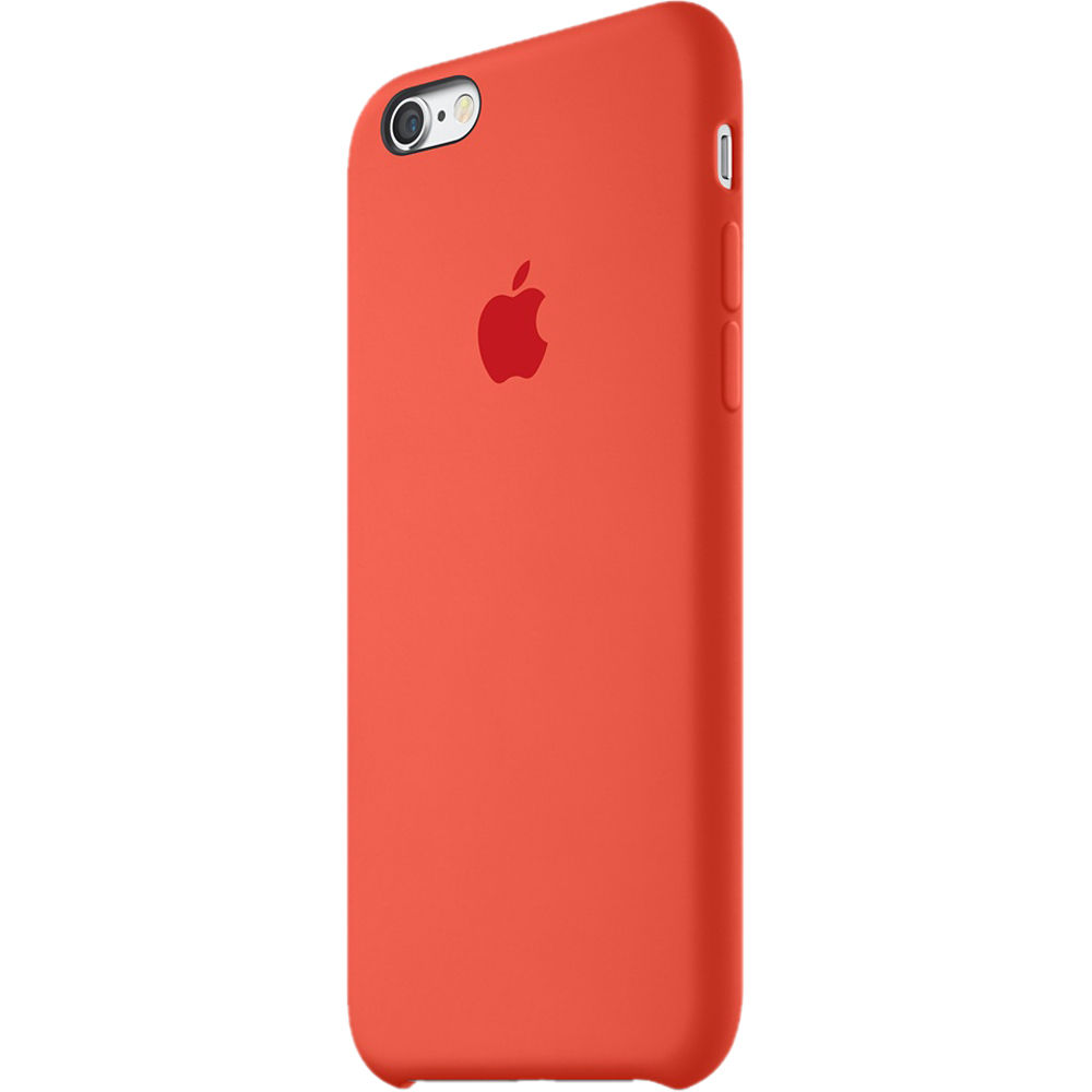 apple iphone 6 6s silicone case orange mky62zm a b h photo. Black Bedroom Furniture Sets. Home Design Ideas