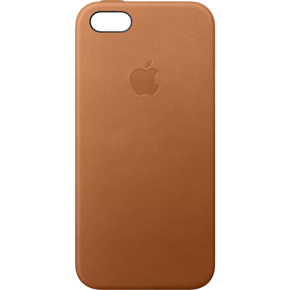 Apple iphone 5 5s se leather case saddle brown mnyw2zm a b h - Iphone 5s leather case ...