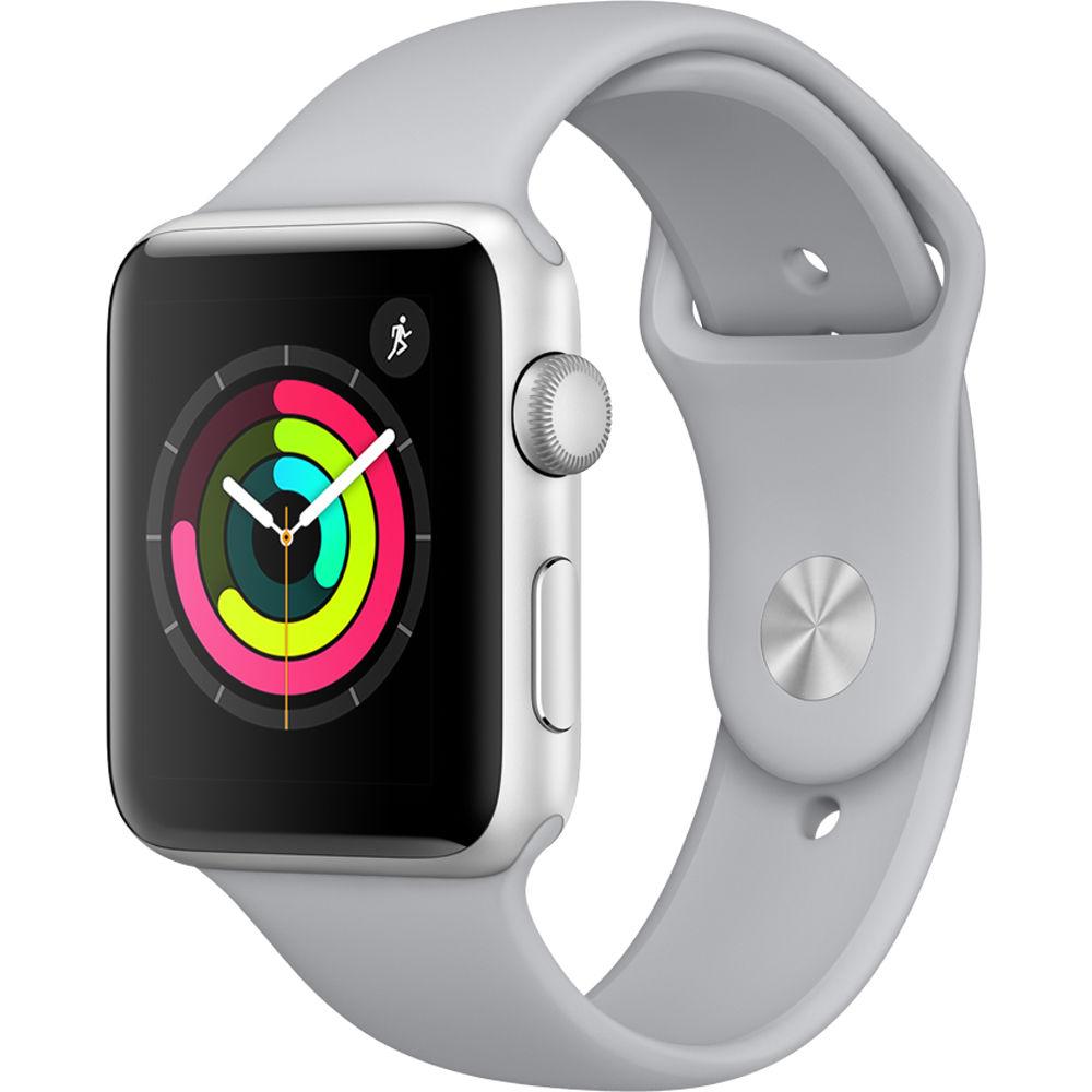 apple watch series 3 42mm smartwatch mql02ll a b h photo video. Black Bedroom Furniture Sets. Home Design Ideas