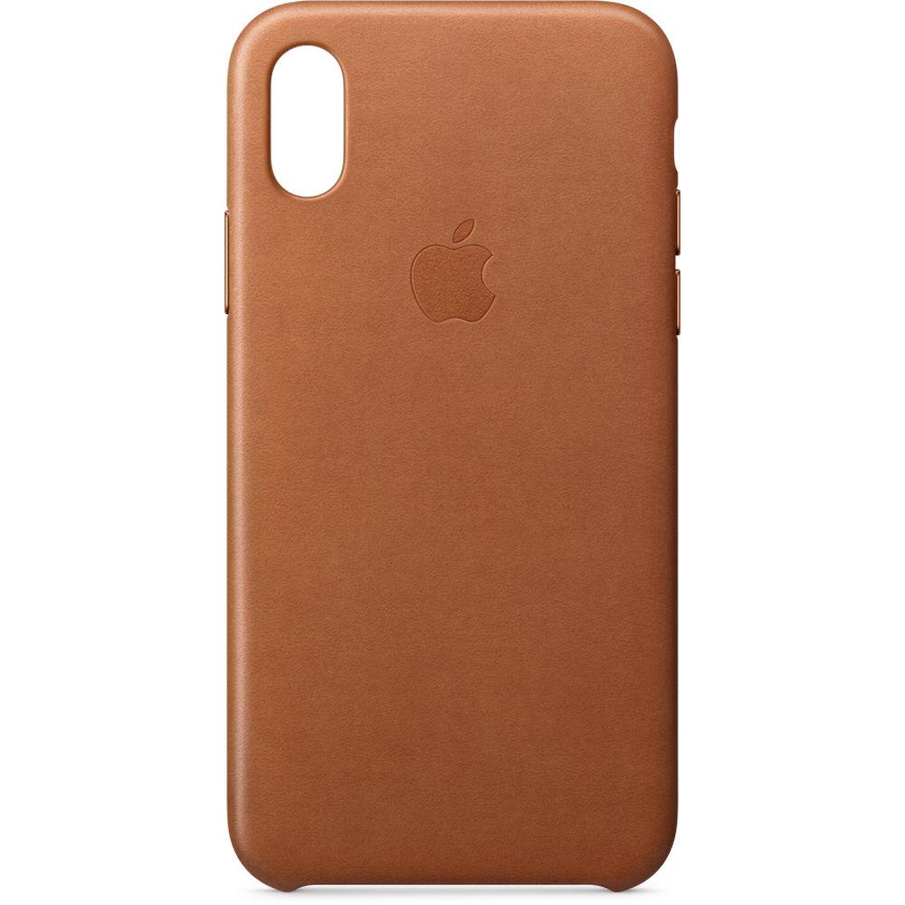 27ca30a62ea Apple iPhone X Leather Case (Saddle Brown) MQTA2ZM A B H Photo