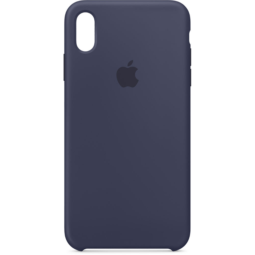 Apple Iphone Xs Max Silicone Case Midnight Blue Mrwg2zm A B H