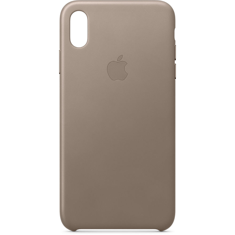 Apple iPhone Xs Max Leather Case (Taupe) MRWR2ZM A B H Photo d335fc743d