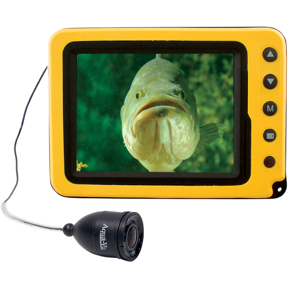 Aqua vu av micro 5c underwater color camera with ir 100 for Underwater ice fishing camera