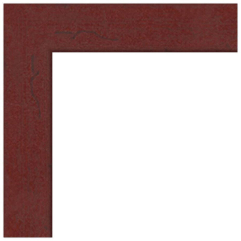 ART TO FRAMES 4083 Black Stain Solid Red WOM0066-59504-YBLK-6X8