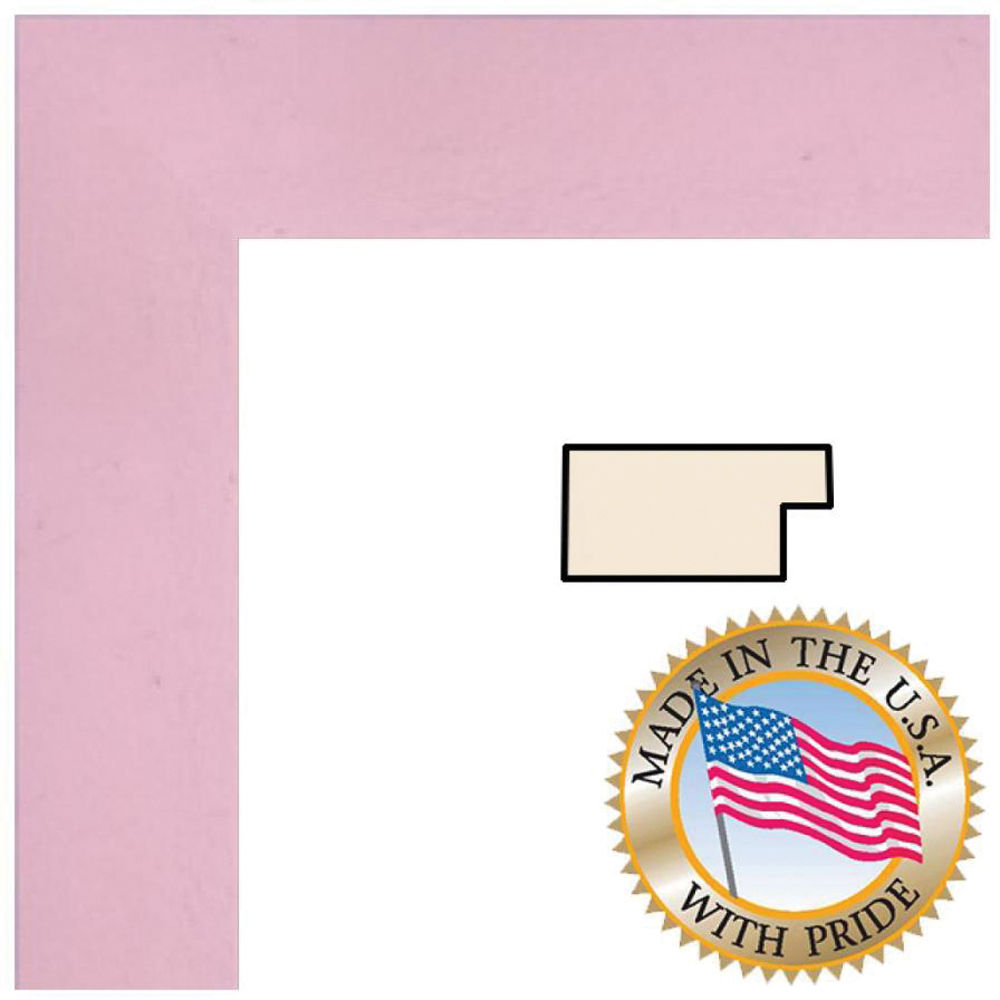 ART TO FRAMES 4120 Baby Pink Stain WOM0066-81792-YPNK-11X17 B&H