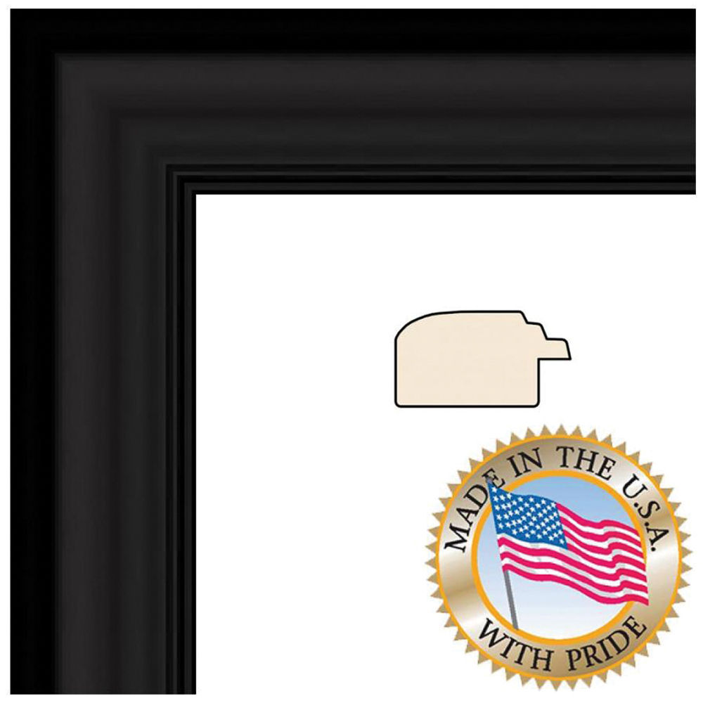 Art To Frames 1418 Satin Black Step Lip Photo Frame Wom10035 8x8