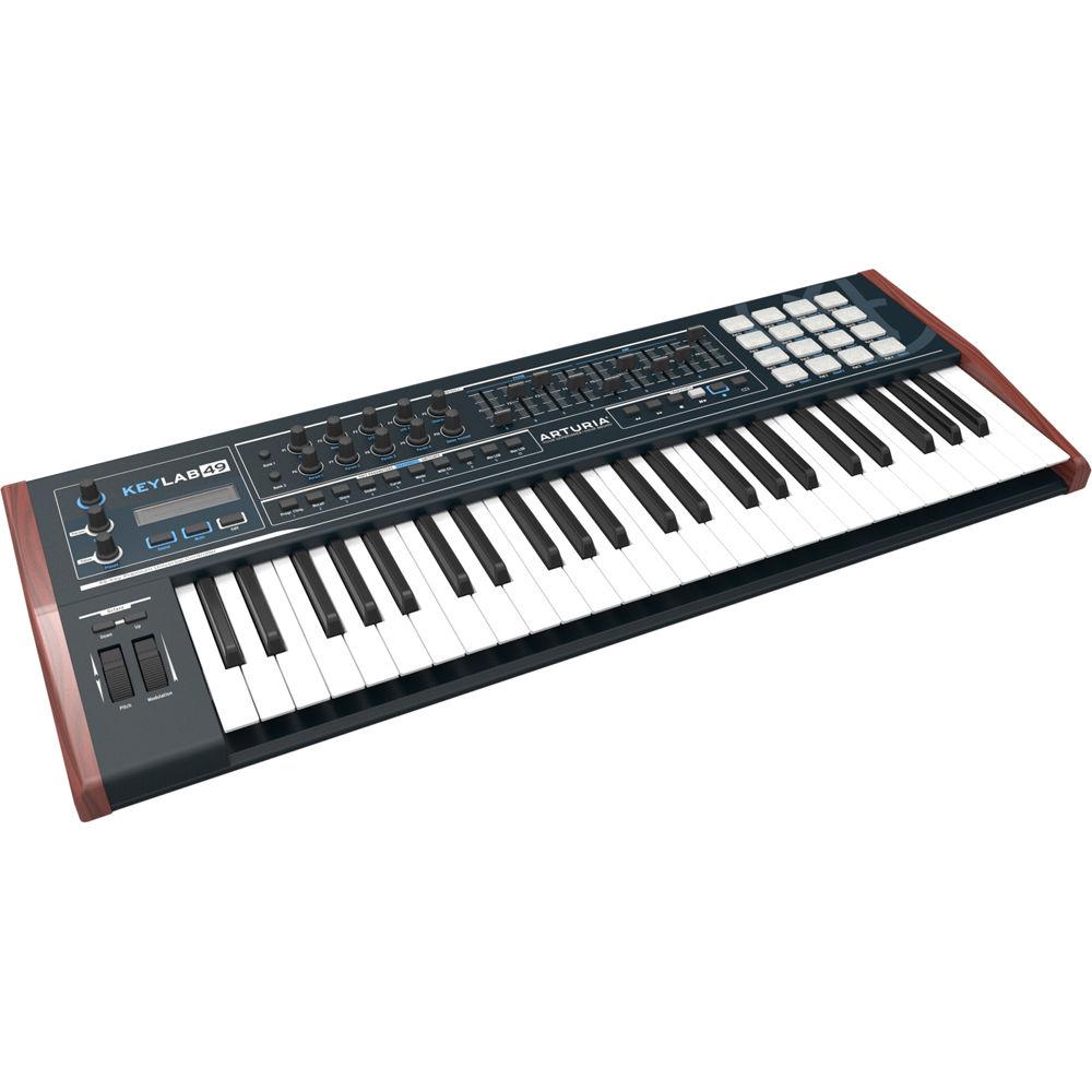 arturia keylab 49 black edition keyboard controller 230422 b h. Black Bedroom Furniture Sets. Home Design Ideas