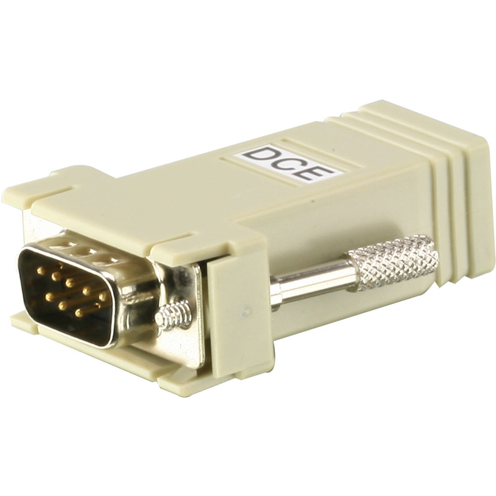 ATEN RJ-45 (Female) to DB9 (Male) DTE to DCE Interface Adapter.