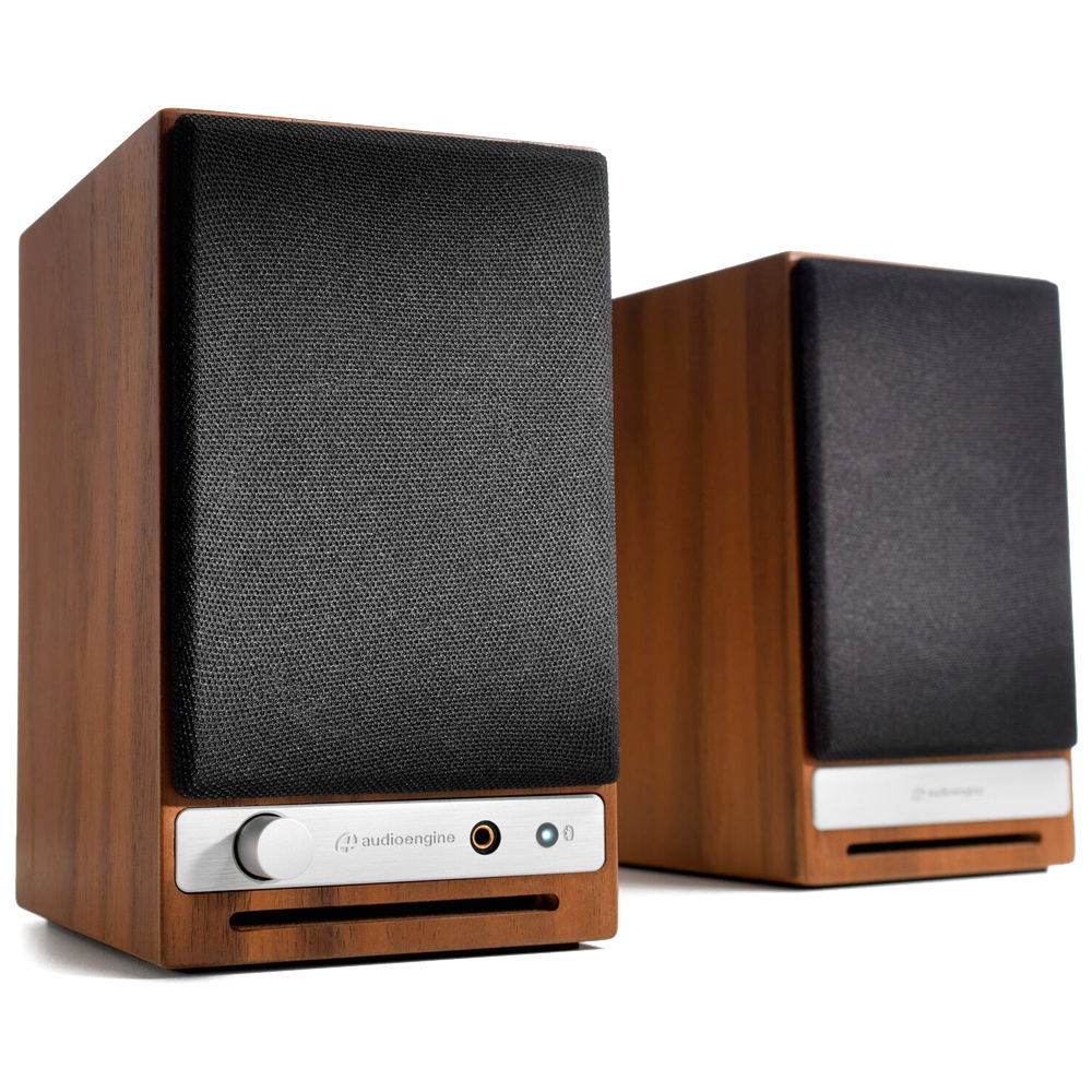 Audioengine HD3 2 Way Wireless Bookshelf Speakers Pair Walnut